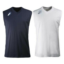 Errea Pro Cotton Gym Training Vest Top Navy Or White Mens Small, Medium Large