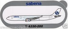 AIRBUS A330-200 SABENA AIRLINES STICKER (RARE)