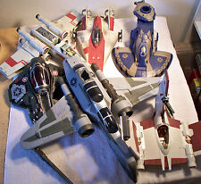 Star Wars Lot of 6 LARGE Vehicles & Flyers Includes X-Wing, Tank, Rebel A-Wing