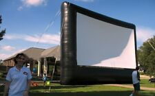 New 8Mx4.5M Open Air Cinema Outdoor Movie Projector Inflatable Screen 16:9
