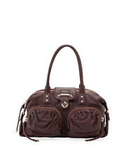 NEW  Botkier Bianca 2-Pocket Medium Satchel Bag in Wine $495 Retail NWT