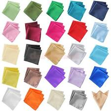 10x Elegant Polyester Pure Color Party Hanky Napkin Pocket Handkerchiefs Square