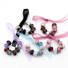 8PCS Multicolor European Style Lampwork Big Hole Assorted Glass Beads DIY Charms