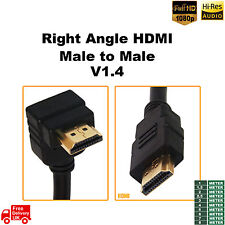 1M 2M 5M HDMI Right Angled to HDMI Striaght v1.4 3D HDTV for PC Screen PS2 PS4