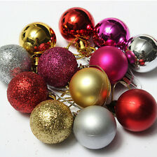24pcs Christmas Tree Decor Ball Bauble Hanging Home Xmas Party Ornament Decor RX