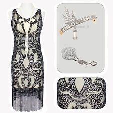 Ladie Vintage 1920s Flapper Dress Gatsby Fancy Girl Costume Charleston Size 2-18