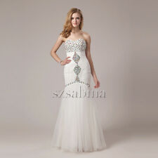 New type women white chiffon wedding dress mermaid custom made size6 8 10 12 14+