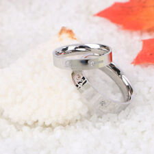 Fashion Lovers Ring Titanium Crystals Promise Key And Lock Love Couple Rings