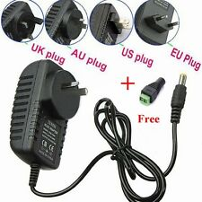 12V  2A 110-240V AC DC POWER SUPPLY ADAPTER CHARGER FOR 3528/5050 LED Strip Top