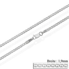 14ct Solid White Gold 585 16 18 20 22 24 Curb Anchor Necklace Chain Hallmarked