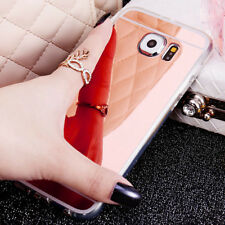 Luxury Ultra-thin Soft Silicone TPU Mirror Case Cover For Samsung Galaxy Phones