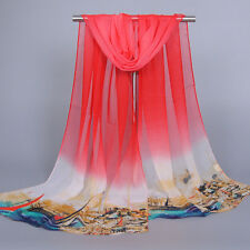 Fashion Women Flower Chiffon Scarf Shawl Scarf Printed Chiffon Elegant Style New