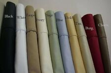 EXTRA DEEP POCKET 800TC 4PCS SHEET SET SOLID 100% COTTON CHOOSE SIZE IN 4 COLORS