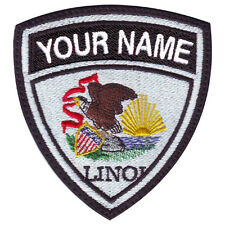 ILLINOIS CUSTOM CREST FLAG NAME EMBROIDERED PATCH