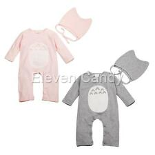 Baby Infant Boys Girls Totoro Romper Toddler One-piece Jumpsuit Hat Set Outfits