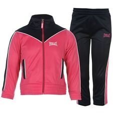 New EVERLAST Junior Girls Infant Poly Tracksuit Set Outfit | Hot Pink 5-6 Years