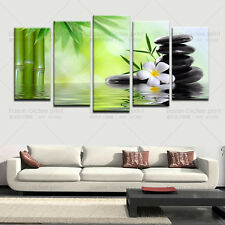 HD Canvas Prints Home Decor Wall Art Painting Pictures-Bamboo Stone Scenery
