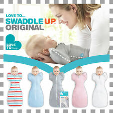 NEW Love to Swaddle Up / Love to Dream Baby Swaddle Blue Grey White Pink S M L
