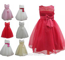 Girls Party Bridesmaid Dress Pageant Wedding Flower Age 2-12 Years New Kids
