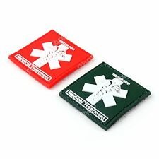 Rescuer Gear Medical Treatment 3D Tactical Army PVC Rubber Hook Loop Patch BS1