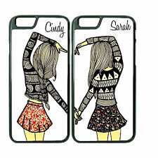 Best Friend Customize Couple Phone Case for iPhone 6 PLUS 6 5 5s 4 4s with NAME