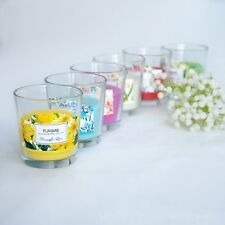 7x8cm Fumare SCENTED PILLAR GLASS JAR CANDLE BRAND NEW 6 SCENTS AVAILABLE
