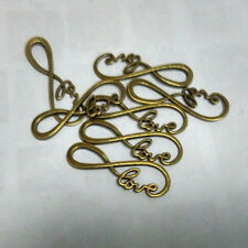 Creative Antique Bronze infinity love Connector Charms Pendant Fitting 39x12mm