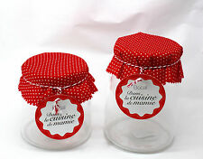 Set of 2 Apothecary Jars Candy Lolly Buffet Glass Jar Wedding Party & Scoops