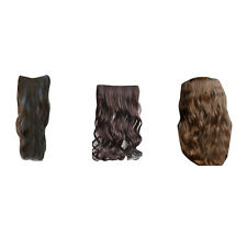 One Piece Clip in Synthetic Human Hair Extension Long Wavy Curly Hair 5 Clips HP