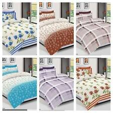 Complete Duvet Cover Set with 2Pillow Cases Quilt Cover & Bed sheet Double King