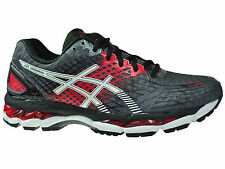 NEW MENS ASICS GEL-NIMBUS 17 RUNNING SHOES TRAINERS CARBON / WHITE / BLACK
