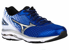NEW MENS MIZUNO WAVE RIDER 19 RUNNING SHOES TRAINERS SURF THE WEB / SILVER / BLA