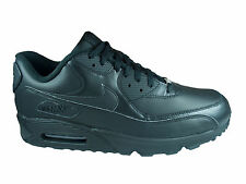 NEW MENS NIKE AIR MAX 90 RUNNING SHOES TRAINERS BLACK / BLACK