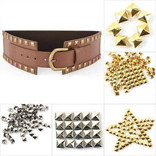 100pcs Leathercraft Square Pyramid Rivet Metal Studs Spots Spikes 6/8/10/12mm