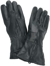 NEW Mens Genuine Solid Black Leather Motorcycle Bike Driving Gloves M L XL GIFT
