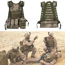 Tactical Military SWAT Waistcoat Airsoft Molle Combat Assault Plate Carrier Vest