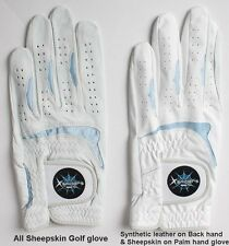 Golf Gloves 3 Packs Small Junior Lady Sheepskin Leather Pick Size & Hand Durable
