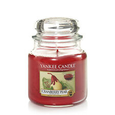 2 x Yankee Candle Cranberry Pear Medium 16.5oz Jar Scented Candle - Free Postage