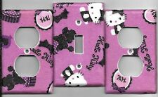 Hello Kitty in Purple Light Switch Cover and Electrical Outlet Plates