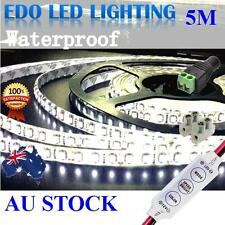 Waterproof Cool White 600 LED DC 12V 5M 3528 SMD Leds Strip Light Dimmer caravan