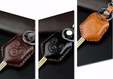 Brain New Car Insert Key Leather Case with Key Chain Fit Subaru Forester XV