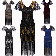 Long Prom 1920's Flapper Dress Gatsby 20s evening Party Tassel Party Costume