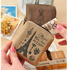 Women Lady Girls Retro Coin Bag Canvas Zipper Holder Wallet Purse Case PouchX1 F