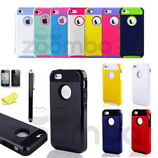 Shockproof Protective Skin Cover Hybrid Case Rugged Hard For Apple iPhone 5 5S