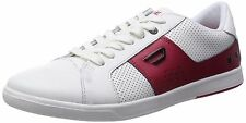 Diesel Designer Fashion Eastcop Gotcha Leather Red White Mens Shoes Sneakers