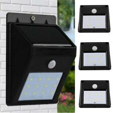 4-12 LED Solar Power PIR Motion Sensor Wall Light Outdoor Waterproof Garden Lamp