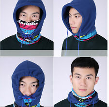 Windproof Hood Balaclava Full Face Mask Cap Hat Scarf Outdoor Skiing Cycle Adult