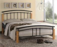 Tetras 4ft6 Double Size Modern Metal Bed Frame Black Silver