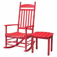 International Concepts Turned Post Solid Wood Porch Rocker