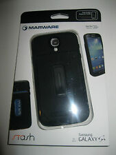 MARWARE S4SA11  STASH BLACK WALLET CASE FOR GALAXY S4 WITH SCREEN PROTECTOR
